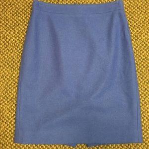 J Crew 0 Blue wool blend The Pencil Skirt